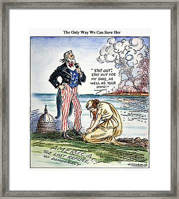 Cartoon: U.s. Intervention Framed Print by Granger