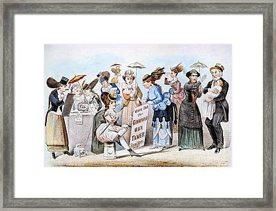 Cartoon: Womens Rights Framed Print by Granger