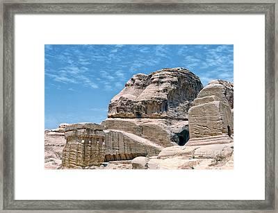 Carved Djinn Blocks. Petra. Jordan. Framed Print by Steven Sklifas