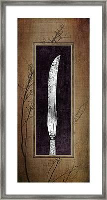 Carving Set Knife Triptych 2 Framed Print by Tom Mc Nemar