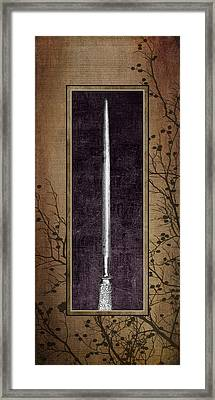 Carving Set Sharpener Triptych 3 Framed Print by Tom Mc Nemar