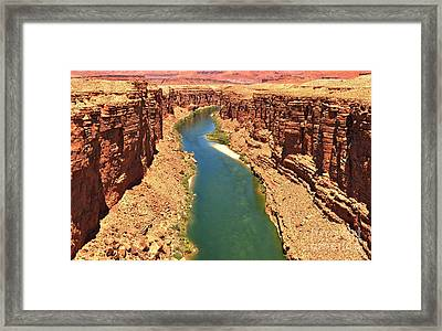 Carving The Canyon Framed Print by Adam Jewell