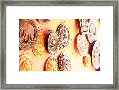 Carvings With Summer Glow  Framed Print by Prar Kulasekara