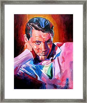 Cary Grant - Debonair Framed Print by David Lloyd Glover