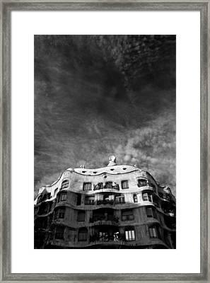 Casa Mila Framed Print by Dave Bowman