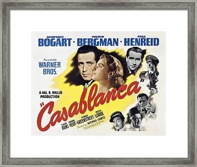 Casablanca Movie Lobby Poster 1942 Framed Print by Daniel Hagerman