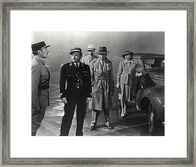 Casablanca Movie Still  1942 Framed Print by Daniel Hagerman