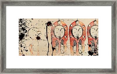 Cascade Of Realization Framed Print by Mark M  Mellon