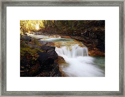 Cascade On Beauty Creek Framed Print by Larry Ricker