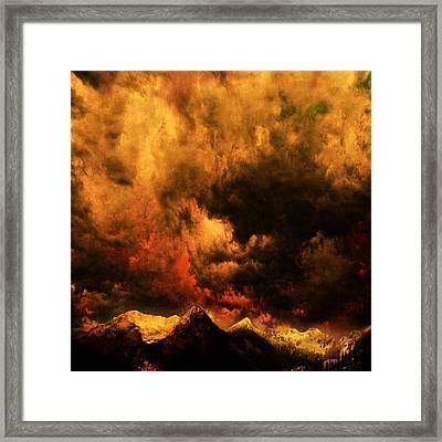 Cascade Storm Framed Print by Jeff Burgess
