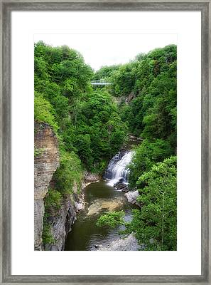 Cascadilla Waterfalls Cornell University Ithaca New York 01 Framed Print by Thomas Woolworth