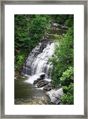 Cascadilla Waterfalls Cornell University Ithaca New York 03 Framed Print by Thomas Woolworth