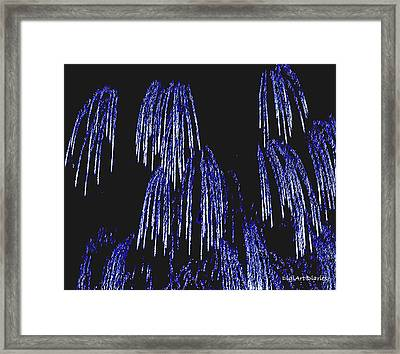 Cascading Fireworks Framed Print by DigiArt Diaries by Vicky B Fuller