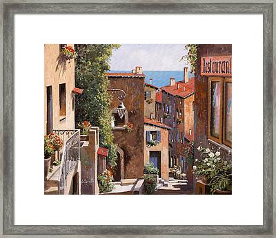 casette a Cagnes Framed Print by Guido Borelli