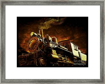 Casey Jones And The Cannonball Express Framed Print by Edward Fielding