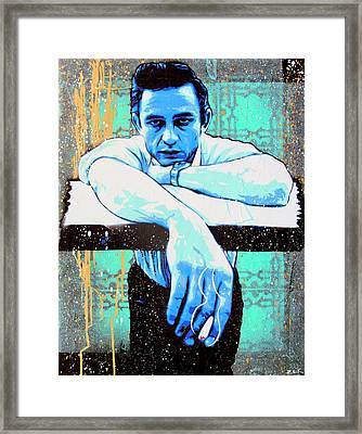 Cash - Preacher Man  Framed Print by Bobby Zeik