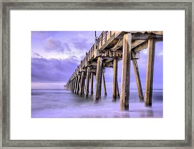 Casino Beach Pier Framed Print by JC Findley