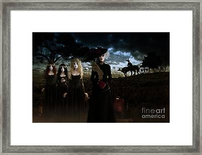 Casquette Brides Arrival Framed Print by Shanina Conway