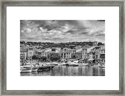 Cassis - South Of France In Mono Framed Print by Georgia Fowler