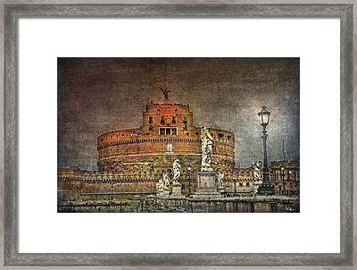 Castel Sant Angelo Fine Art Framed Print by Hanny Heim