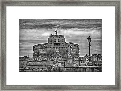 Castel Sant'angelo B/w Framed Print by Hanny Heim
