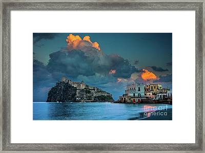 Castello Aragonese Framed Print by Inge Johnsson