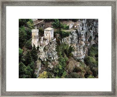 Castello Di Venere Framed Print by Joe Bonita
