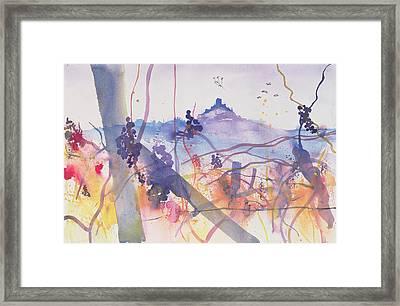 Castiglione D'orcia From Bagno Vignoni Framed Print by Simon Fletcher