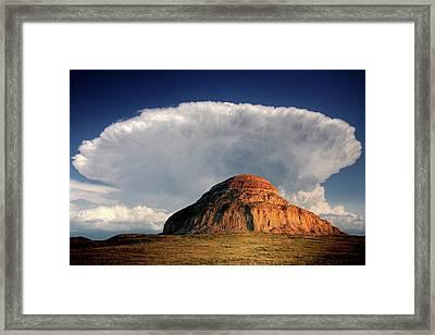 Castle Butte In Big Muddy Valley Of Saskatchewan Framed Print by Mark Duffy