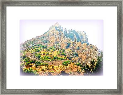 We Were Walking The Whole Way Up To The Old Castle  Framed Print by Hilde Widerberg