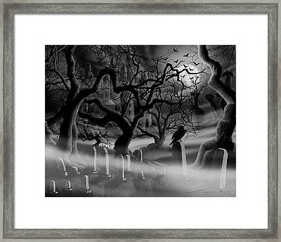 Castle Graveyard I Framed Print by James Christopher Hill