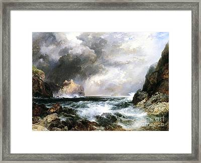 Castle In Scotland Framed Print by Thomas Moran