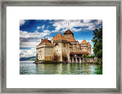 Castle On Lake Geneva II Framed Print by George Oze