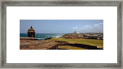 Castle On The Coast, Castillo De San Framed Print by Panoramic Images