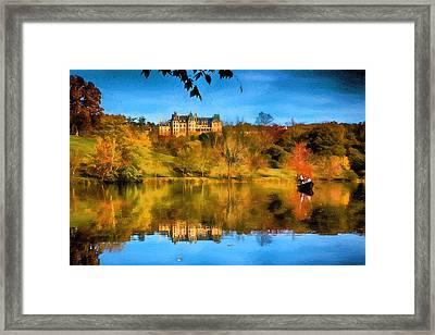 Castle Reflections Of Fall Framed Print by John Haldane