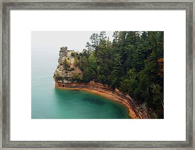 Castle Rock Framed Print by Michael Peychich