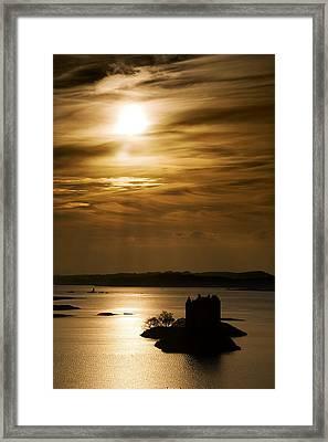 Castle Stalker At Sunset, Loch Laich Framed Print by John Short