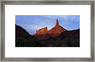 Castle Towers Framed Print by Chad Dutson