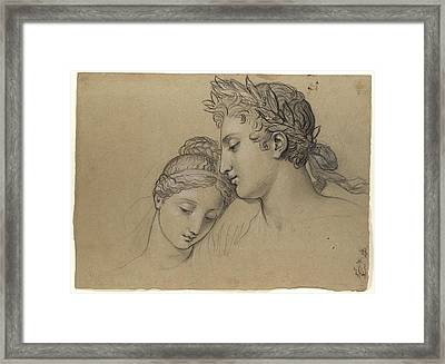 Castor And Pollux Freeing Helen Framed Print by Celestial Images