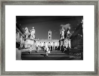 Castor And Pollux In Rome, Italy. Framed Print by Stefano Senise