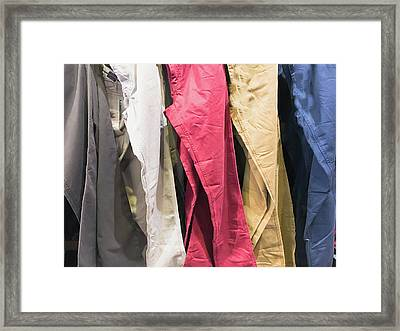 Casual Trouers Framed Print by Tom Gowanlock