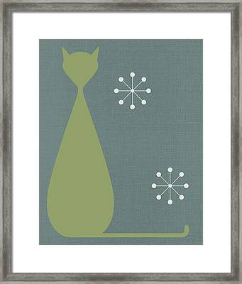 Cat - 1 Framed Print by Finlay McNevin