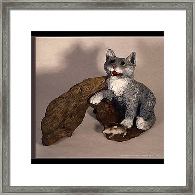 Cat And Mice Main View Framed Print by Katherine Huck Fernie Howard