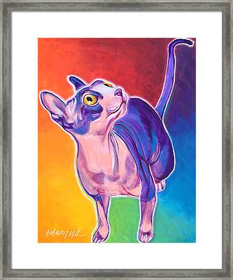 Cat - Bree Framed Print by Alicia VanNoy Call