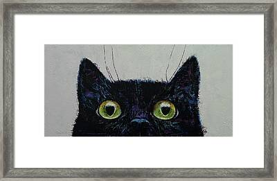 Cat Eyes Framed Print by Michael Creese