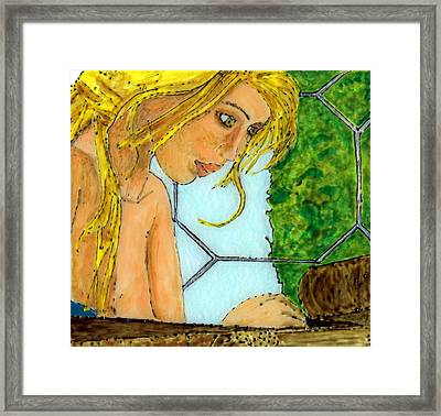 Cat Figures It Out Framed Print by Phil Strang