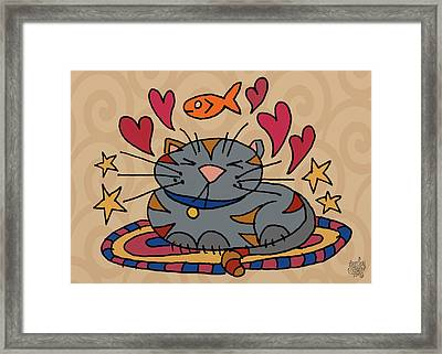 Cat Nap Framed Print by Jennifer Heath Henry