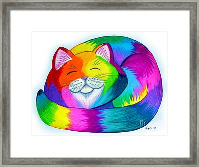 Cat Napping Framed Print by Nick Gustafson