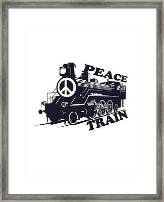 Cat Stevens - Peace Train Is Coming Framed Print by Lee Brown