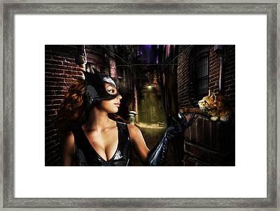Cat Woman Framed Print by Alessandro Della Pietra